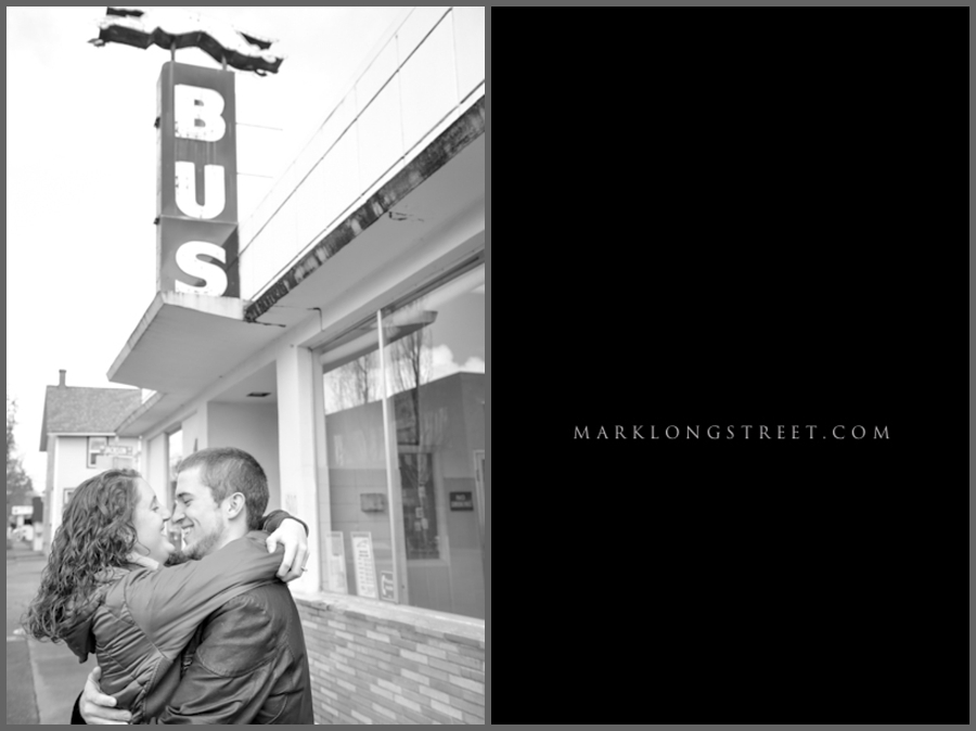 Engagement Photos with Mark Longstreet Eugene Wedding Photography on OSU Campus in Corvallis Oregon