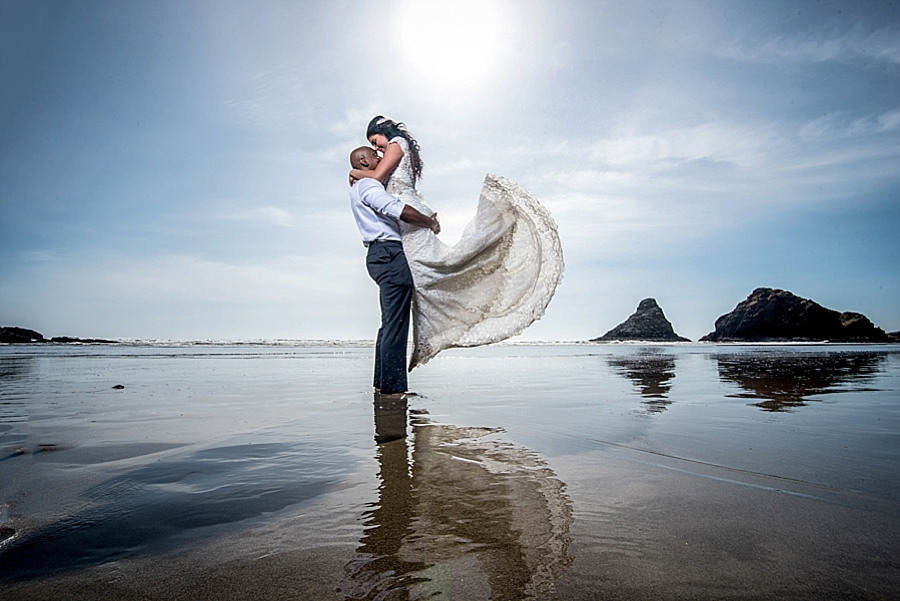 Trash the dress Oregon Coast